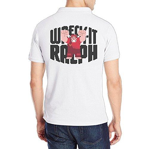 Men's Super Wreck Boy Solid Polo Shirt White