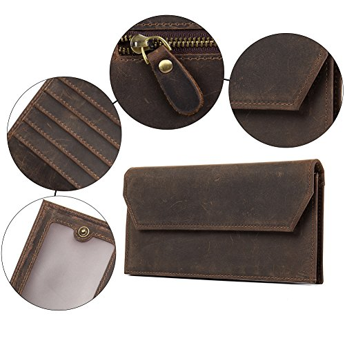 WESTBRONCO for Coin Hunter Bifold Leather Wallets Best Coffee Card Men 4 Credit Wallet Purse qqw41Z