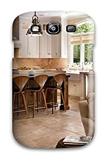 Premium Durable Warm White Kitchen With Modern Barstools Fashion Tpu Galaxy S3 Protective Case Cover