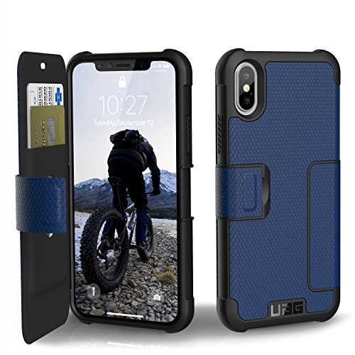 Metropolis One Light - URBAN ARMOR GEAR UAG Folio iPhone Xs/X [5.8-inch Screen] Metropolis Feather-Light Rugged [Cobalt] Military Drop Tested iPhone Case