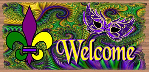 Mardi Gras Plaque - Welcome Mardi Gras Sign