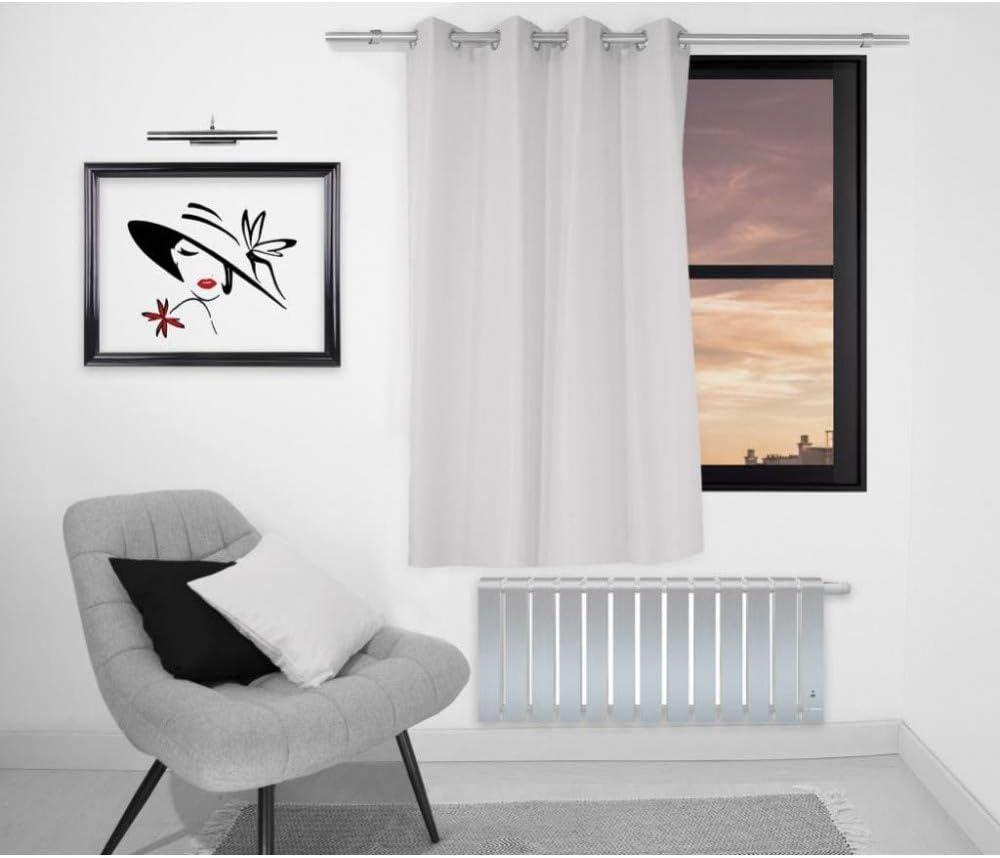 Soleil dOcre 032237 Alix Rideau Uni /Ã//Â/ Oeillets Polyester Blanc 135x180 cm