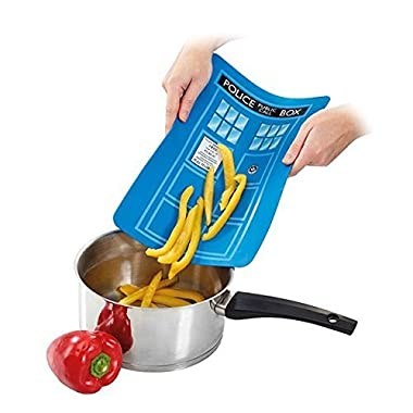 Doctor Who TARDIS Cutting Board - Flexible Silicone, with Non-Slip Base