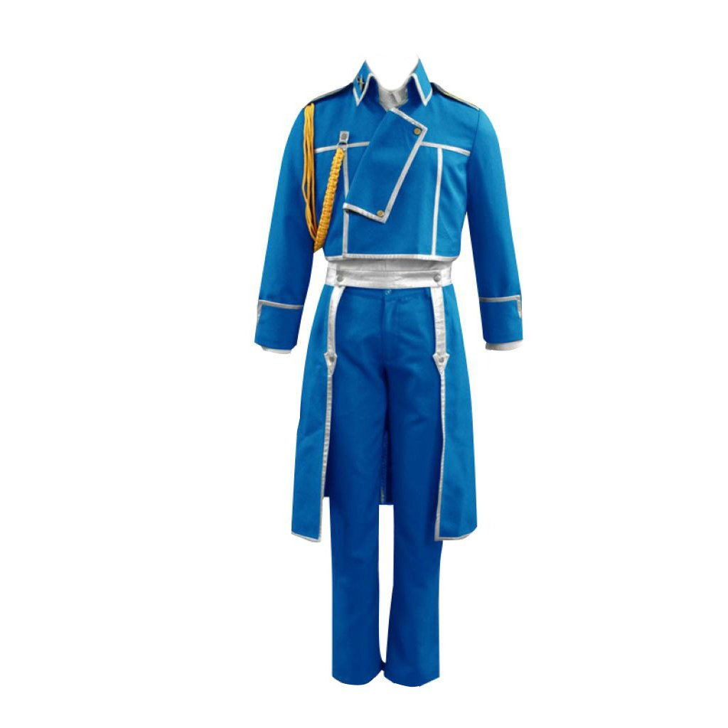 Dream2Reality japanische Anime Fullmetal Alchemist Cosplay Kostuem - Roy Mustang Uniform Kid Größe Large