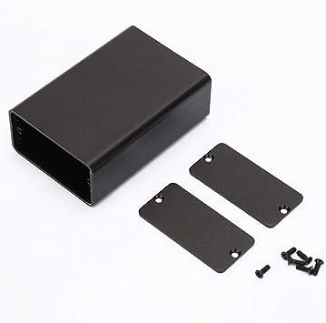 Caja de Instrumentos de Placa de Circuito Impreso de Aluminio Negro Esmerilado Caja de Tipo Dividido Caso de Proyecto Electrónico: Amazon.es: Bricolaje y herramientas
