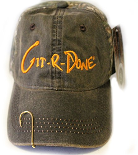 00fc87eb01f Larry the Cable Guy Official Gear Git-R-Done Tour Hat (Brown-Camo) with  Fish Hook - Buy Online in UAE.