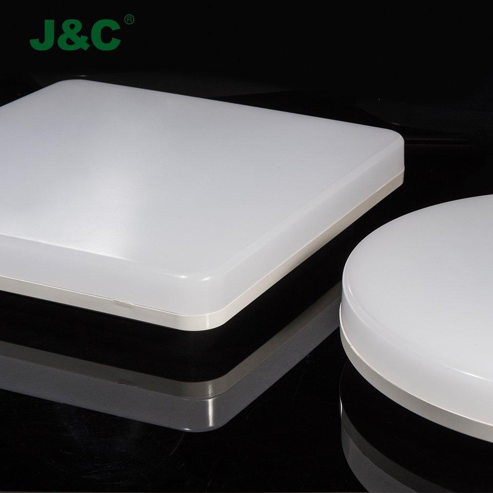 10x plafoniera led   j&c® plafoniera bagno led 24w ip44 2050lm ...