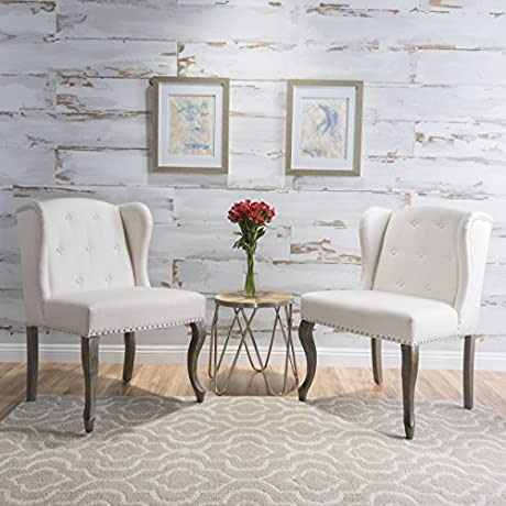 Asheville Beige Fabric Chair Set Of 2