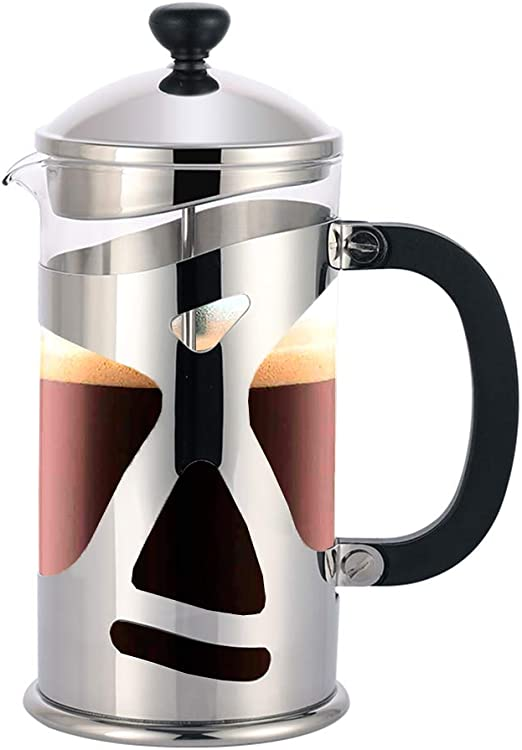 Highwin cafetera de prensa francesa de doble filtro, 8 tazas (34 ...