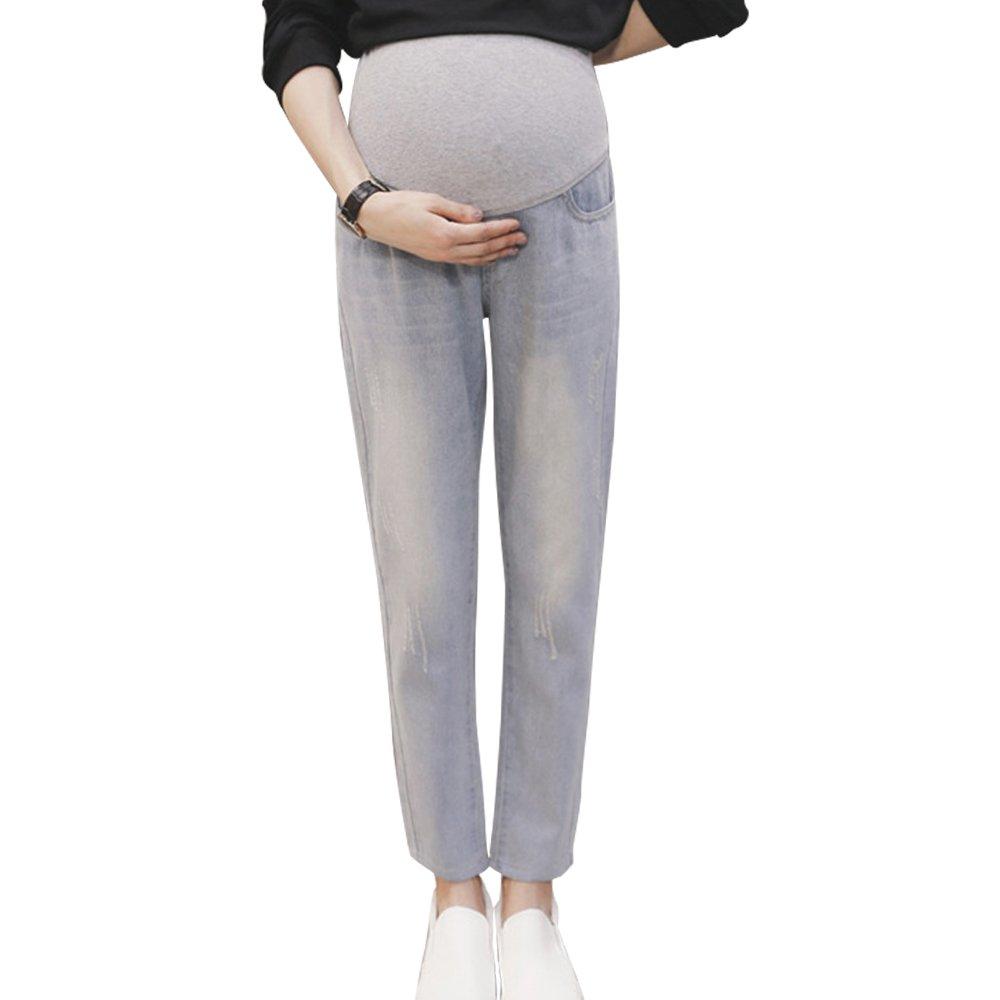zenicham Women's Winter Jeans for Pregnant Women ZM-JIMS-8667