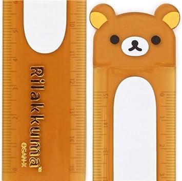 Regla semitransparente oso marrón Rilakkuma cara osito: Amazon.es ...