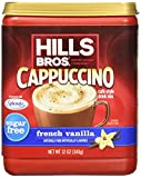 hawaii ice flavor - Hills Bros. Instant Cappuccino Mix, Sugar-Free French Vanilla Cappuccino Mix-Easy to Use, Enjoy Coffeehouse Flavor from Home-Frothy, Decadent Cappuccino Mix with 0% Sugar and 8g of Carbs (12 Ounces)