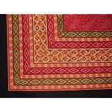 "Rajasthan Block Print Tablecloth-60"" x 90"" Rectangle ..."