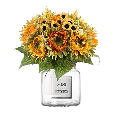 Artificial Sunflower Bundle with Vase