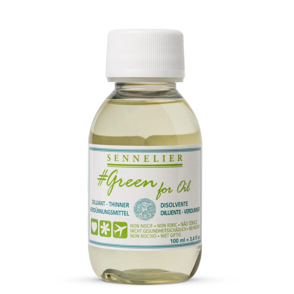 Sennelier Green for Oil Solvent-Free Thinner, 100ml (10-135201-100) SAVOIR-FAIRE