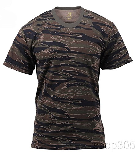 Mens Camouflage T-Shirt, Tiger Stripe, 2X-Large by Rothco