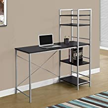 "Monarch Specialties I 7166 Metal Computer Desk, 48"", Cappuccino/Silver"