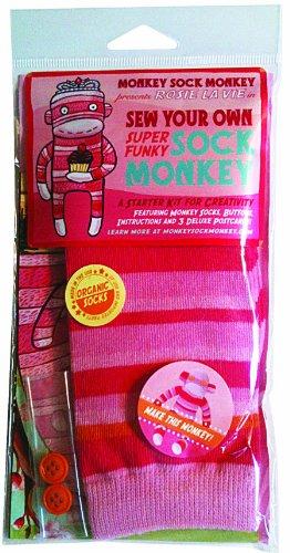 Sock Monkey Monkey Pink Soft Kit, Rosie La Vie (Does Not Include -