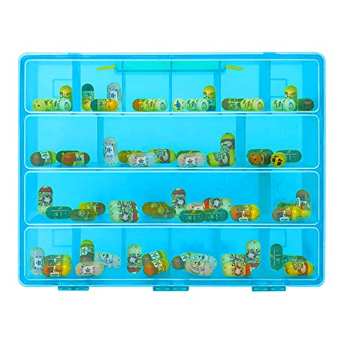 Life Made Better Carrying Case Toy Figure Organizer, Compatible with Mighty Beanz. This Box is Not Created by Mighty Beanz, Blue
