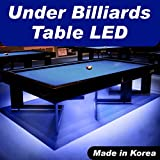 Crystal Vision Premium Pre-Installed LED Kit For Under Pool / Billiard, Dining, Coffe, Bedside, Poker, Game Table & More - Made In Korea (12.5ft) (Crystal Blue)