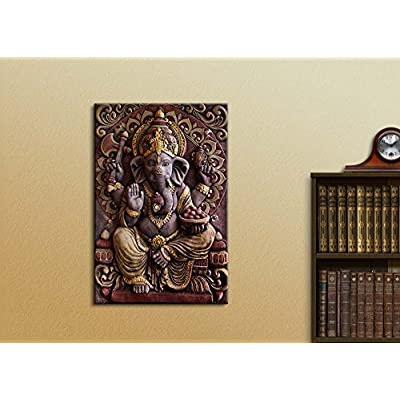Sculpture of Gannesa Hindu God - Canvas Art Wall Art - 24