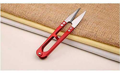 Bener U Shaped Handy Thread and Unpicking Snips(Red)