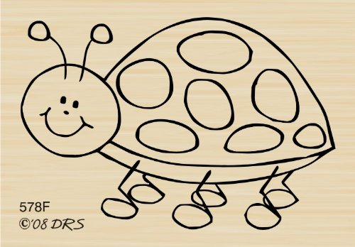 Speckles The Ladybug Rubber Stamp By DRS Designs