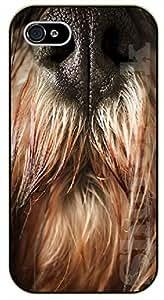 iPhone 4S Dog nose. Hairy - black plastic case / dog, animals, dogs