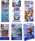 Disney Frozen Easter Basket Fillers with 3ct Dog Tags, Jumbo Playing Cards, Memory Match, 4ct Plastic Rings, 6ct Hair Ponies, and 12ct Press on Nails