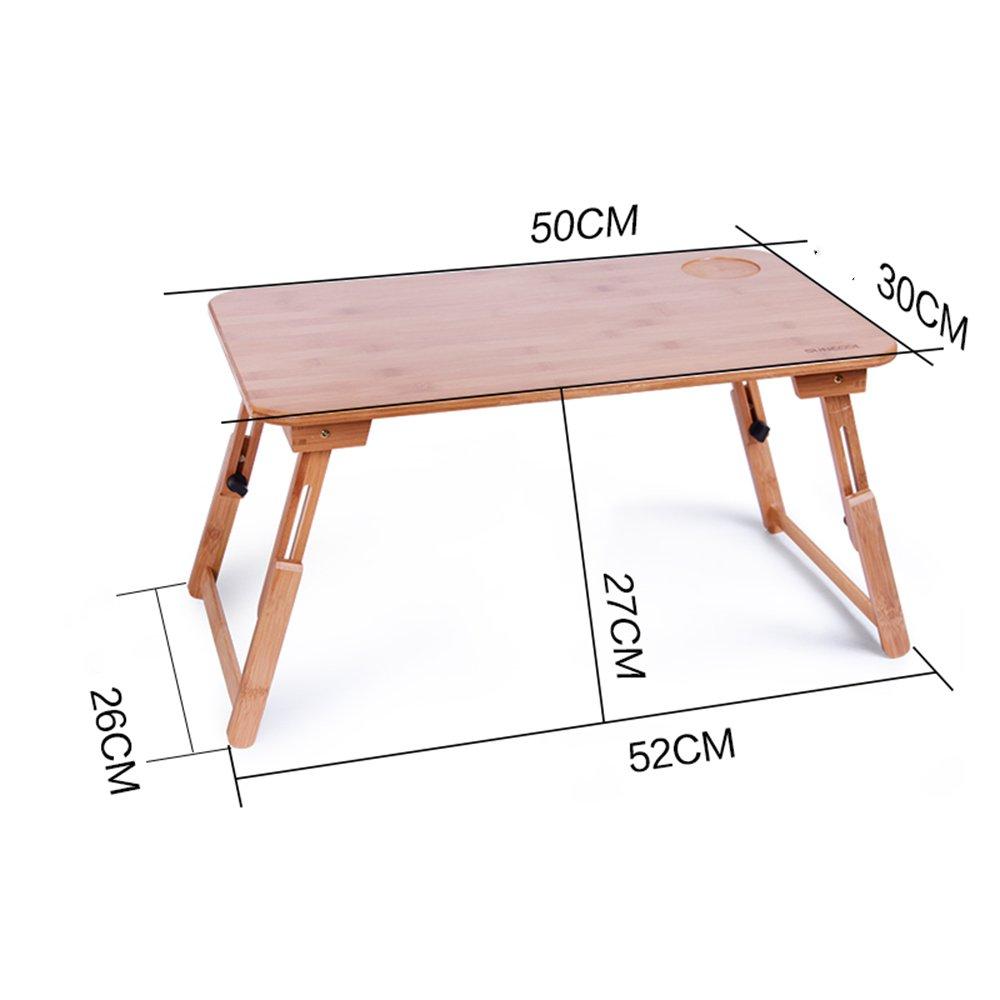 XIA 折り畳みテーブル ラップトップテーブルベッドコンピュータデスク折りたたみ式レイジーテーブル小さなテーブルデスクソリッドウッド55 * 34 * 34cm、50 * 30 * 22cm、55 * 34 * 30cm、50 * 30 * 27cm、62 * 45 * 26cm、70 * 45 * 30cm、 78 * 45 * 34センチメートル、拡張し、厚くする調整可能なリフト ( サイズ さいず : 5 ) B07BV779MC 5 5