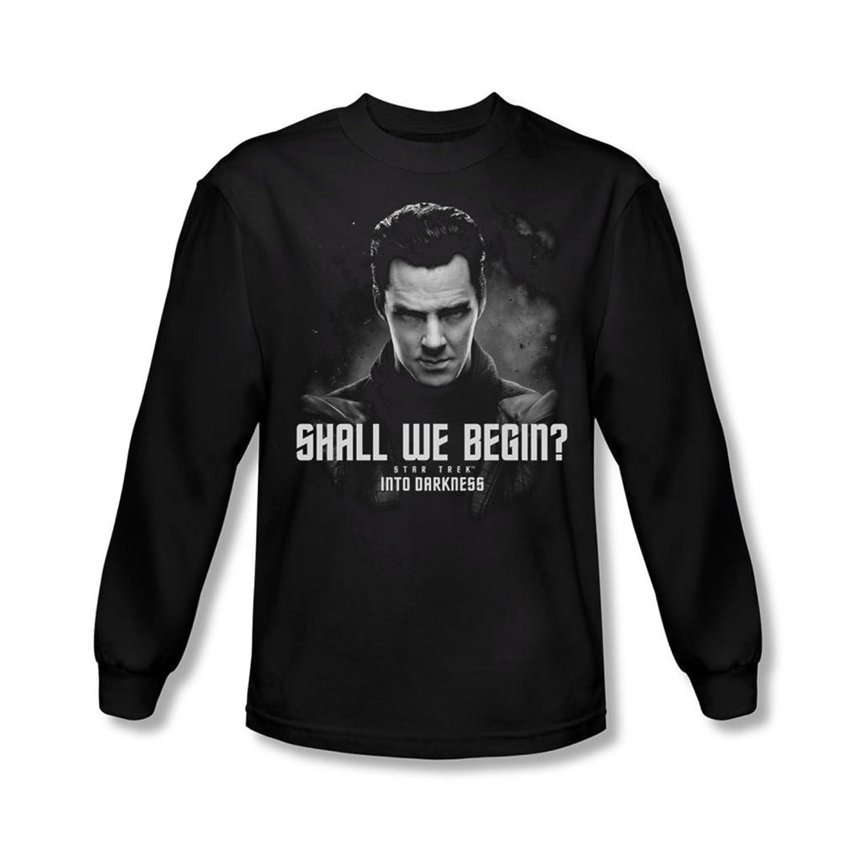 Star Trek - Mens Shall We Begin Longsleeve T-Shirt
