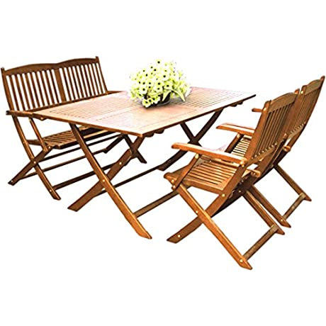 Camden Isle 182948 Sutton 4 Piece Patio Dining Set Natural