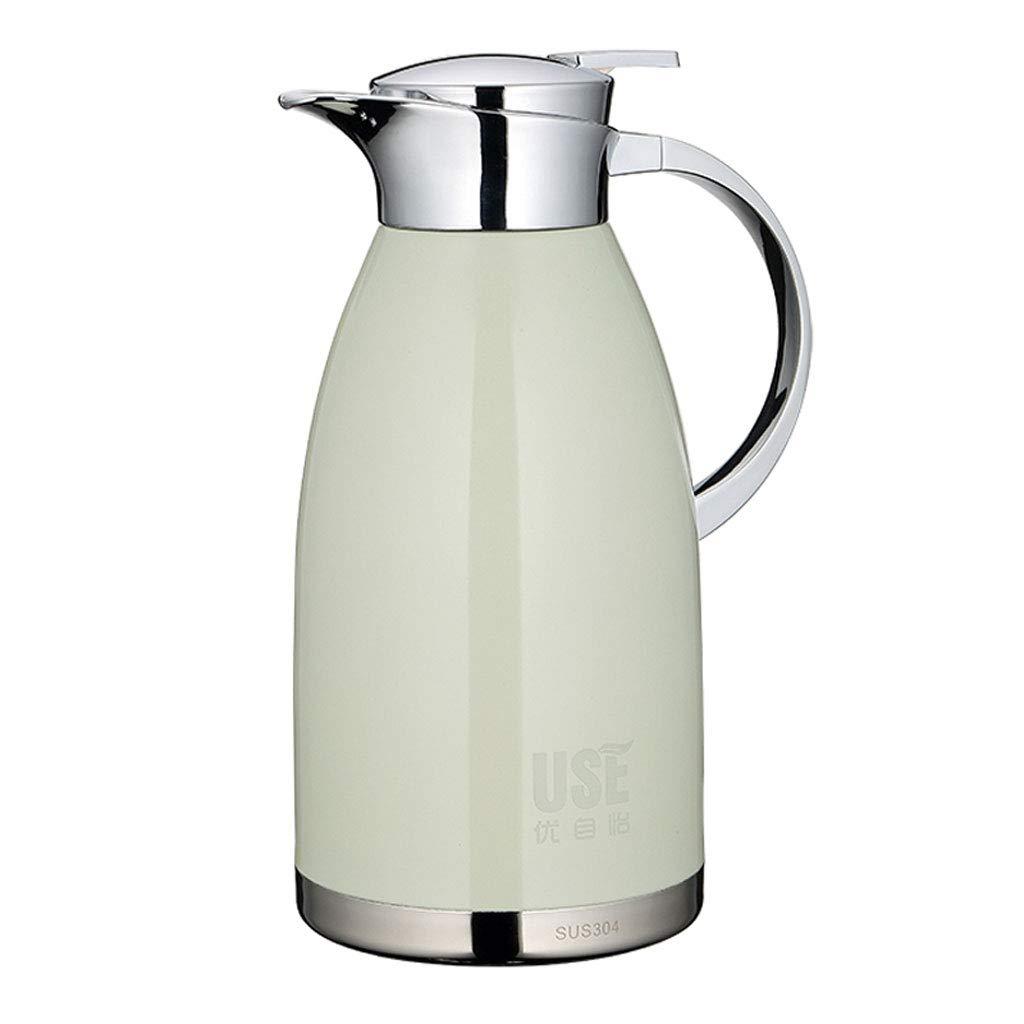 304ステンレス鋼真空断熱ポット、大容量ホーム2 Lリークプルーフと熱冷保持 (容量 : 2000ml, 色 : Pearl white)   B07MY286L6