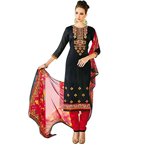 Designer-Jackard-Cotton-Elegant-Embroidered-Salwar-Kameez-Suit-Indian-Dress