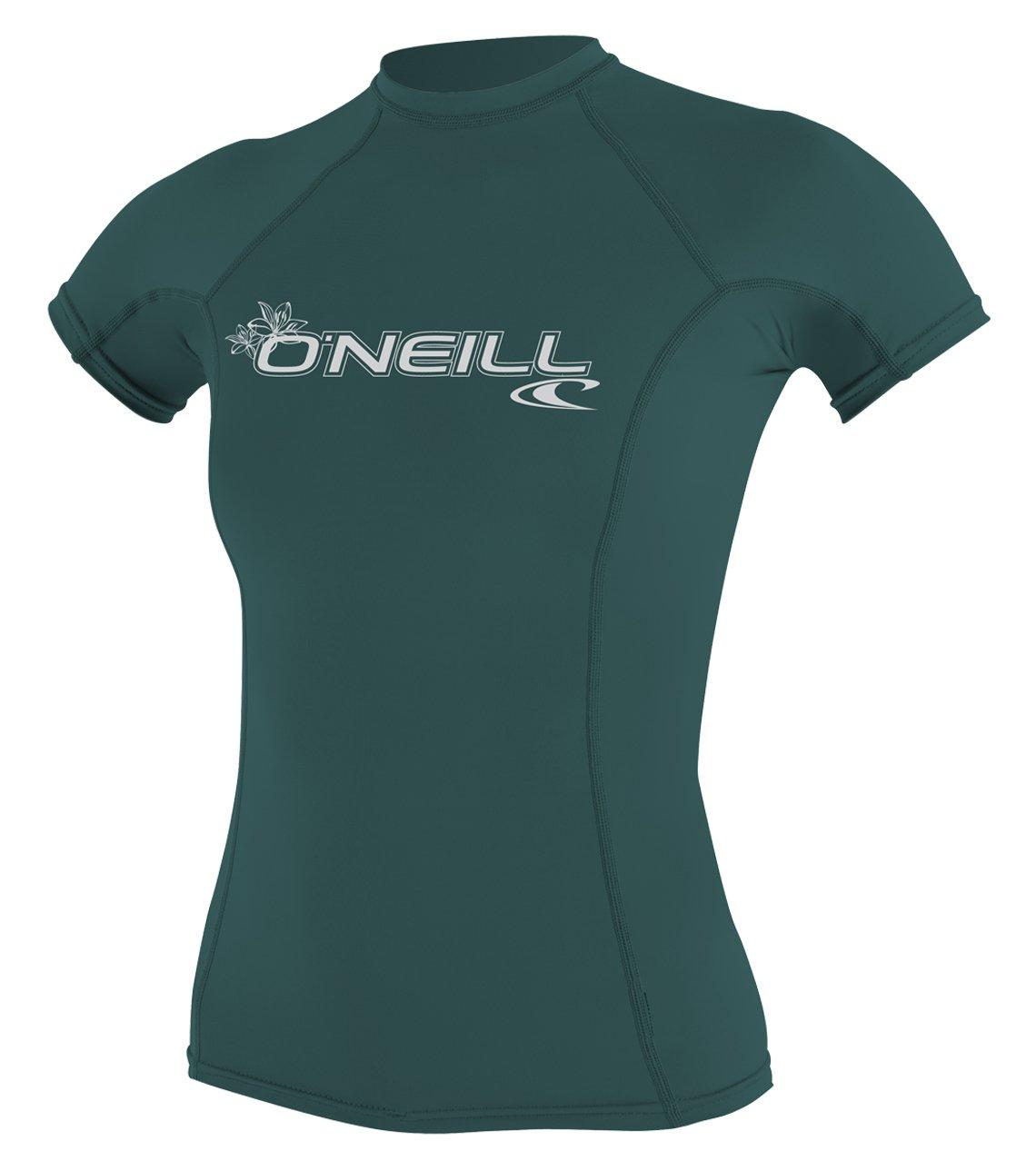 O'Neill Women's Basic 50+ Skins Short Sleeve Rash Guard, Deep Teal, X-Small by O'Neill Wetsuits