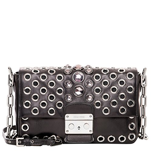 Miu-Miu-Womens-Nappa-Embellished-Bag-Black