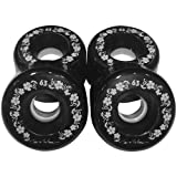 : Toes on the Nose 63mm Black Longboard Wheels (Set of 4)