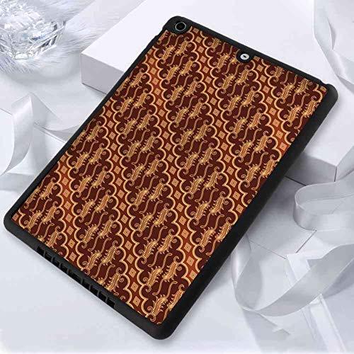 - Hard Back Case Compatible for iPad Air [2013]/iPad 5 (2013) (9.7 Inch) Brown Batik Parang Barong Diagonal Pattern Indonesian Culture and Art Design Brown Apricot Caramel