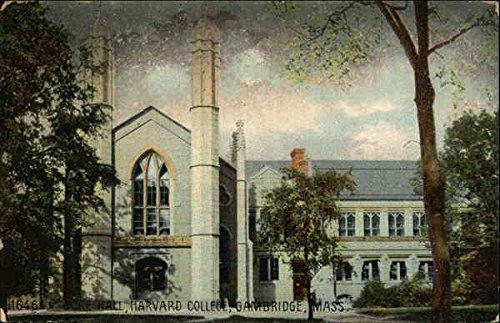 Harvard College - Gore Hall Cambridge, Massachusetts Original Vintage Postcard ()