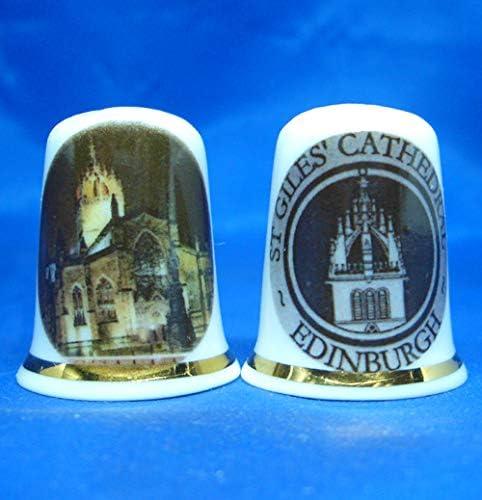 En porcelaine anglaise de collection avec d/é cath/édralesen langue anglaise du Royaume-Uni = Edinburgh Cathedral