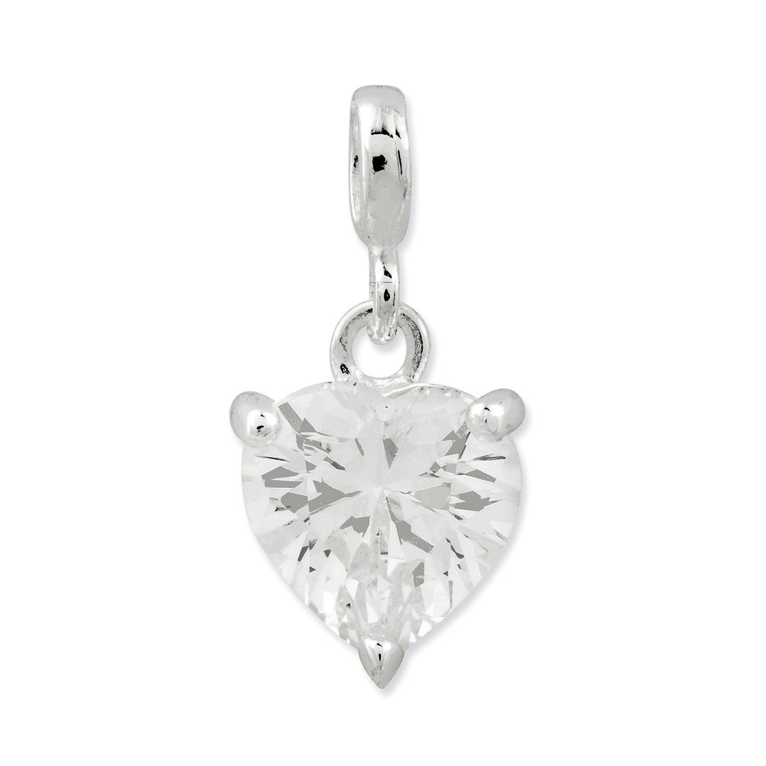 ICE CARATS 925 Sterling Silver Clear Cubic Zirconia Cz Heart Enhancer Necklace Pendant Charm Love Fine Jewelry Ideal Gifts For Women Gift Set From Heart