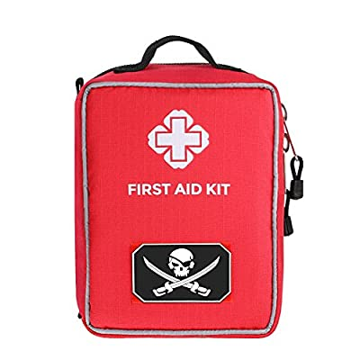AIRSSON First Aid Kit Molle Medical Emergency Bag for Home School Car Office Sports Camping Hunting Outdoors Survival from AIRSSON
