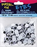 Wiggle Eyes 10 mm Black 190 Pieces (12 Pack)