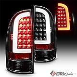 Xtune 2005-2015 Tacoma Black Housing Fiber-Optic Light-Tube LED Tail Lights Pair L+R 2006 2007 2008 2009 2010 2011 2012