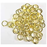 DOVETAIL: 100 Piece Bag Of Brass Plated 1/2 Inch Grommets