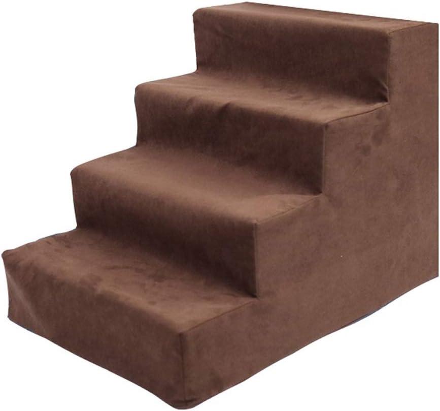 GYZ Escaleras para Mascotas Schnauzer Coogee Escaleras para Perros Escaleras para Escalar Perro para Mascotas Esponjas con Escalera Debajo de la Cama Desmontable - Marrón: Amazon.es: Hogar