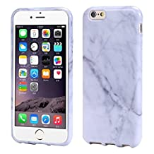 iPhone 6/6S 4.7 Inch Case; A-store New Marble Texture Print Cover Case Skin For iPhone 6 6S 4.7 Inch (White)