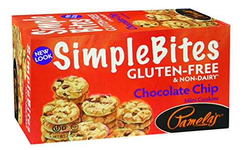 Pamela's Products Gluten Free Simplebites Mini Cookies, Chocolate Chip, 7 Ounce (Pack of (Dairy Free Cookies)