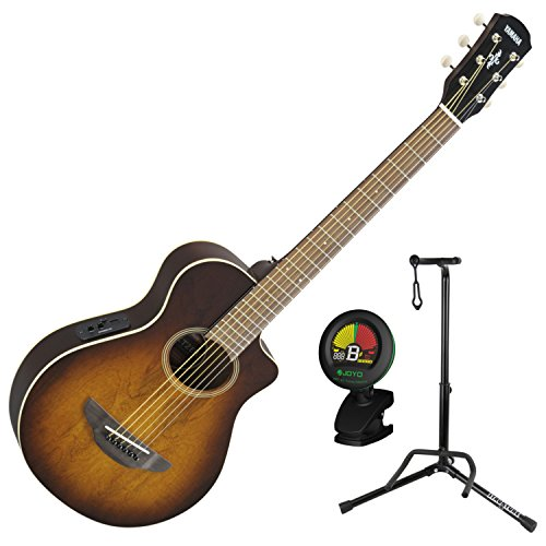 Yamaha APXT2EW TBS 3/4 Scale Mini Thinline Tobacco Sunburst Acoustic Electric Guitar w/ Stand and Tuner