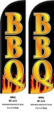 Bbq Two (2) Swooper Feather Flag Kits